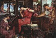 John William Waterhouse Penelope and the Suitors oil painting picture wholesale