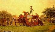 Jonathan Eastman Johnson The Old Stagecoach oil painting picture wholesale