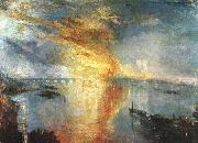 Joseph Mallord William Turner The Burning of the Houses of Parliament oil