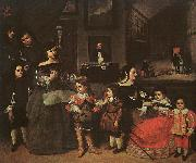 Juan Bautista Martinez del Mazo The Artist's Family oil painting artist