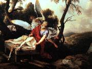 LA HIRE, Laurent de Abraham Sacrificing Isaac g oil painting picture wholesale