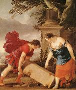 LA HIRE, Laurent de Theseus and Aethra (detail sg oil painting picture wholesale