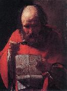 LA TOUR, Georges de Saint Jerome Reading sg oil painting picture wholesale