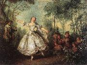 LANCRET, Nicolas Mademoiselle de Camargo Dancing g oil painting picture wholesale
