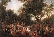 LANCRET, Nicolas Company in the Park g oil painting picture wholesale