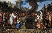 LASTMAN, Pieter Pietersz. Orestes and Pylades Disputing at the Altar s oil painting artist