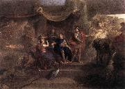 LE BRUN, Charles The Resolution of Louis XIV to Make War on the Dutch Republic g oil painting artist