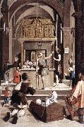 LIEFERINXE, Josse Pilgrims at the Tomb of St Sebastian fg oil painting artist