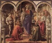 LIPPI, Fra Filippo Adoration of the Child with Saints g oil painting picture wholesale
