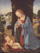 LORENZO DI CREDI The Holy Family g oil painting artist