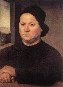 LORENZO DI CREDI Portrait of Perugino sf oil painting artist