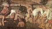 LUINI, Bernardino Girls Bathing sfg oil painting artist
