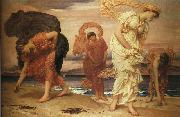 Lord Frederic Leighton Greek Girls Picking Up Pebbles by the Sea Spain oil painting artist