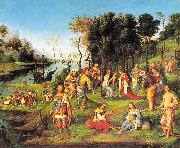 Lorenzo  Costa Allegory of the Court of Isabella d'Este oil painting picture wholesale