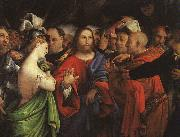 Lorenzo Lotto Christ and the Adulteress oil