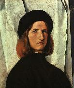 Lorenzo Lotto Portrait of a Young Man   cc oil