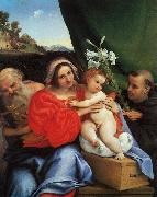 Lorenzo Lotto Virgin and Child with Saints Jerome and Anthony oil