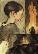 Louis Anquetin Child's Profile and Study for a Still Life oil painting picture wholesale