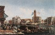 MARIESCHI, Michele The Grand Canal with the Fishmarket sg oil painting picture wholesale