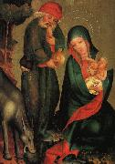 MASTER Bertram Rest on the Flight to Egypt, panel from Grabow Altarpiece g oil painting artist