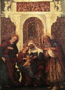 MAZZOLINO, Ludovico Madonna and Child with Saints gw oil painting artist