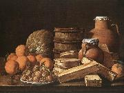 MELeNDEZ, Luis Still Life with Oranges and Walnuts ag oil painting artist
