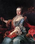 MEYTENS, Martin van Queen Maria Theresia ag oil painting artist