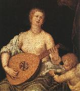 MICHELI Parrasio The Lute-playing Venus with Cupid ASG oil painting artist