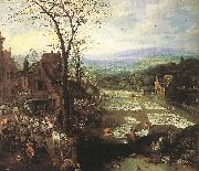 MOMPER, Joos de Flemish Market and Washing Place sg oil painting picture wholesale
