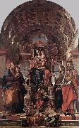 MONTAGNA, Bartolomeo Madonna and Child Enthroned with Saints sg oil painting picture wholesale