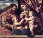 MORETTO da Brescia Holy Family su oil painting artist