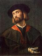 MORETTO da Brescia Portrait of a Man sg oil painting artist