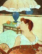 Mary Cassatt The Lamp oil painting artist