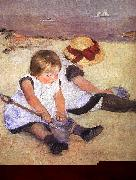 Mary Cassatt Children Playing on the Beach oil painting picture wholesale