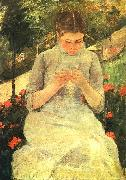 Mary Cassatt Girl Sewing oil painting picture wholesale