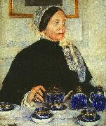 Mary Cassatt Lady at the Tea Table oil painting picture wholesale