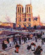 Maximilien Luce The Quai Saint-Michel and Notre-Dame oil painting picture wholesale