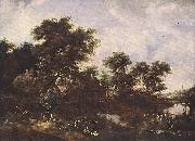 Meindert Hobbema The Watermill Oak oil painting picture wholesale