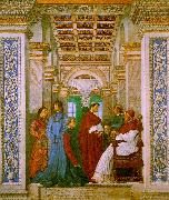 Melozzo da Forli Sixtus II with his Nephews and his Librarian Palatina oil painting picture wholesale