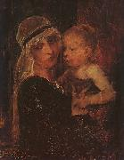 Mihaly Munkacsy Mother and Child oil painting artist