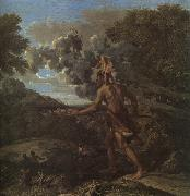 Nicolas Poussin Blind Orion Searching for the Rising Sun oil painting artist