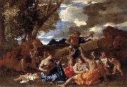 Nicolas Poussin Bacchanal Andrians oil painting reproduction