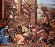 Nicolas Poussin Adoration of the Magi oil painting picture wholesale