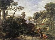 Nicolas Poussin Landscape with Diogenes oil painting picture wholesale