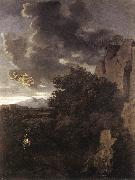 Nicolas Poussin Hagar and the Angel oil painting reproduction