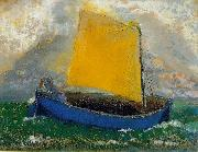 Odilon Redon The Mystical Boat oil painting artist