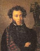 Orest Kiprensky The Poet, Alexander Pushkin oil painting picture wholesale