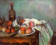 Paul Cezanne Onions and Bottles Spain oil painting reproduction