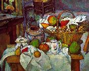 Paul Cezanne Vessels, Basket and Fruit Spain oil painting reproduction