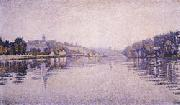 Paul Signac River's Edge The Seine at Herblay oil painting picture wholesale